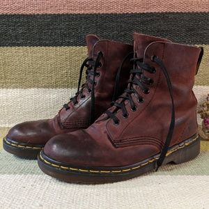 Dr Martens Burgundy Boots | Size 9